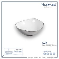 Silver Color Ceramic Wash Basin