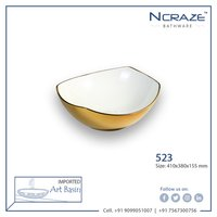 Golden Color Ceramic Wash Basin