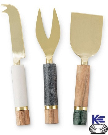 Wooden , Resin and Steel Cheese Knives Set
