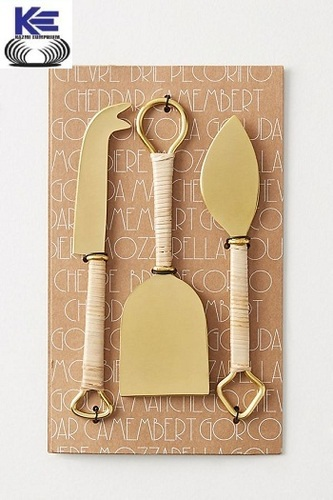 Brass ans Rope handle Cheese Knives