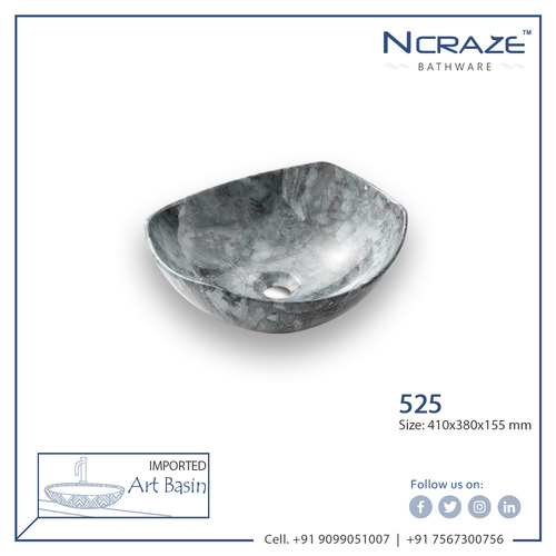 Dark Grey Designer Art Wash Basin