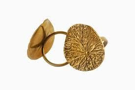 Water Lily Design Napkin RIng