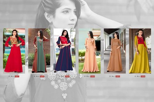 Elisha Ladyview Gown Type Wholesale Long Kurta