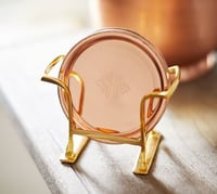 Copper Coaster with Stand