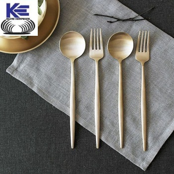 Brass Spoon and Fork with matt Finish