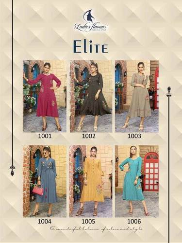 Elite Ladies Flavour 3D Stripe Kurti Manufacturer