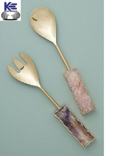Agate Salad Server Set
