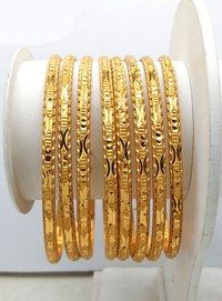 New Design Gold Plated Shagun Bangle