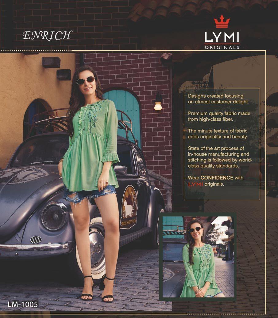 Enrich LYMI Viscose Handwork Embroidery Tops Catalog