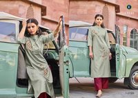 Essence Vol-2 Cotton Embroidery Kurti Set