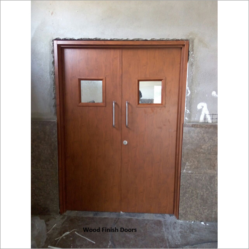 Wood Finish Steel Doors