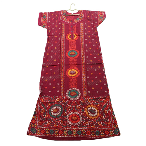 Ladies Designer Print Nighty
