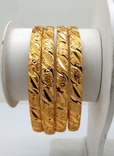 Fancy Design Gold Plated Shagun Bangle