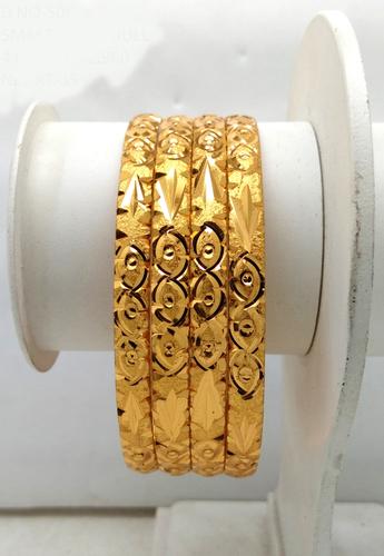 Fancy Gold Plated Shagun Bangle