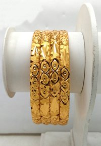 Fancy Gold Plated Shagun Bangle