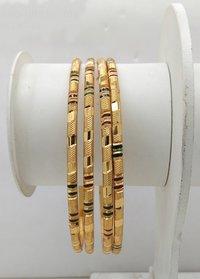 Simple New Design Gold Plated Shagun Bangle