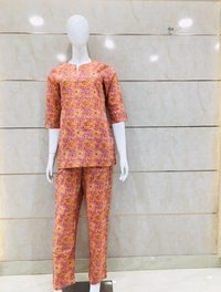 Pure Cotton Printed Night Suit.