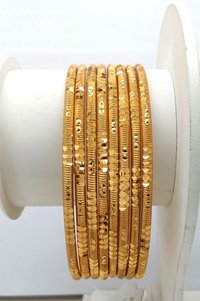 Simple New Design Gold plated shagun Bangle
