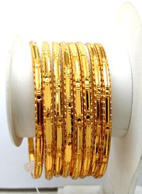 Gold plated Shagun Bangle