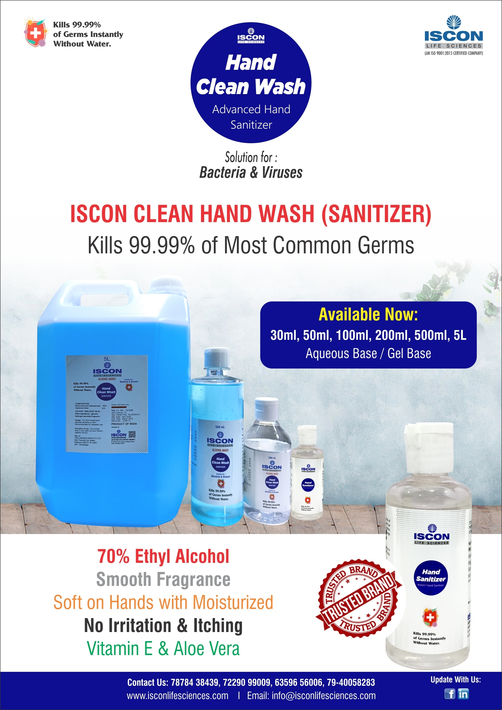 Hand sanitizer liquid 5lts