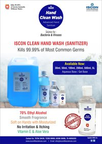 Hand sanitizer liquid 5lts