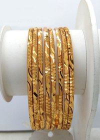 New Design Gold Plated Shagun Bangle For Women