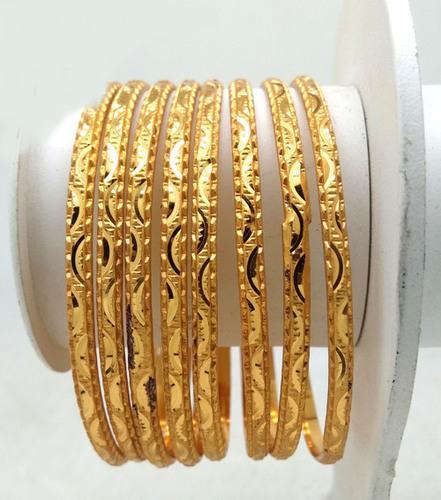 New Design Gold Plated Shagun Bangle For Women