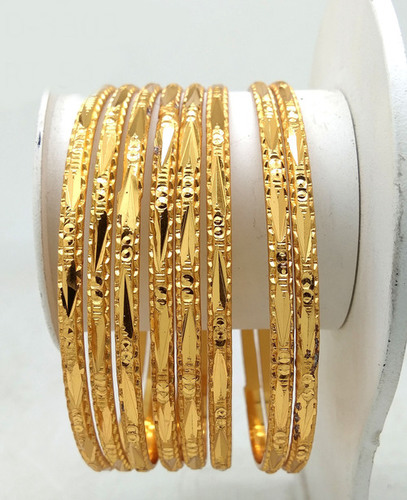 Fancy Design Gold plated Shagun Bangle