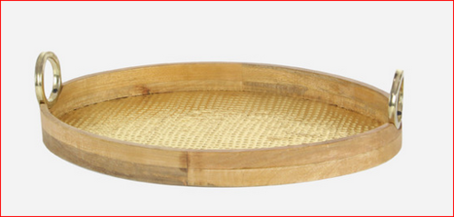 Oval Brass Serving Tray