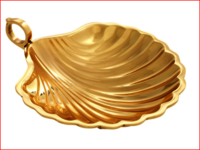 Brass Leaf Serving tray