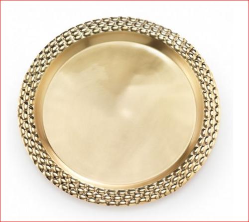 Brass Round Serving Tray