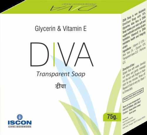 Diva Soap (Vitamin E & Mineral Oil  (Moisturizing Soap)