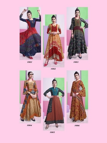 Fabfirki Launch Akansha Chanderi Digital Prints Kurtis
