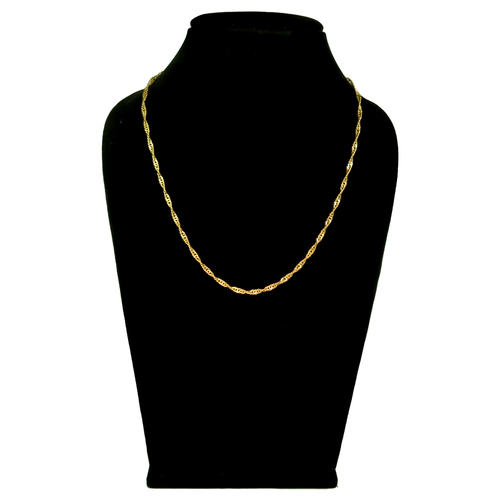 18 Inches simple design gold chain