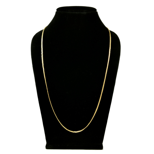 Long Gold Plated Simple Design Chain