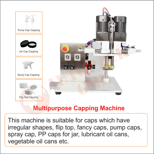 Pump Cap, Spray Cap, Flip Top, Jar Cap Capping Machine
