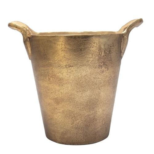 Brass Gorget with Crown Design