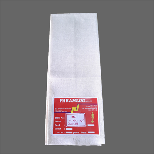 100% Cotton sheeting fabric 40s x 34s, 46 inch, 100 gm/meter