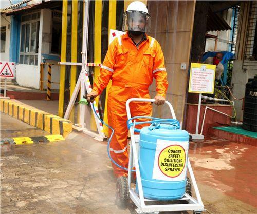 Sanitizing Trolley