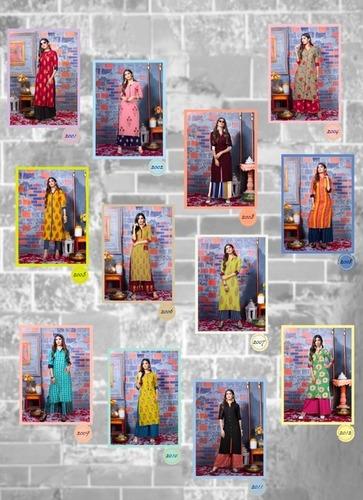 Fashion Biba Vol 2 By Kajal Style Heavy Rayon Print Kurti With Palazzo Catalog