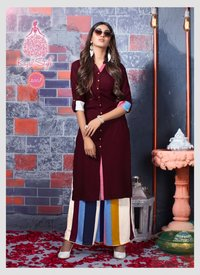 Fashion Biba Vol 2 By Kajal Style Heavy Rayon Print Kurti With Palazzo Catalog