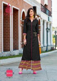 Fashion Biba Vol-3 Kajal Style Rayon Printed Kurtis