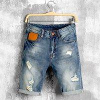 Blue Mens Rugged Denim Short