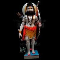 White Marble Prashuram Statue