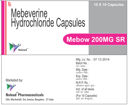 Mebeverine hydrochloride 200mg sustained Release