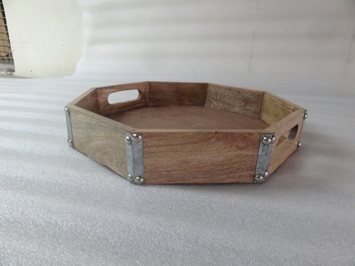 Round Wooden Trays