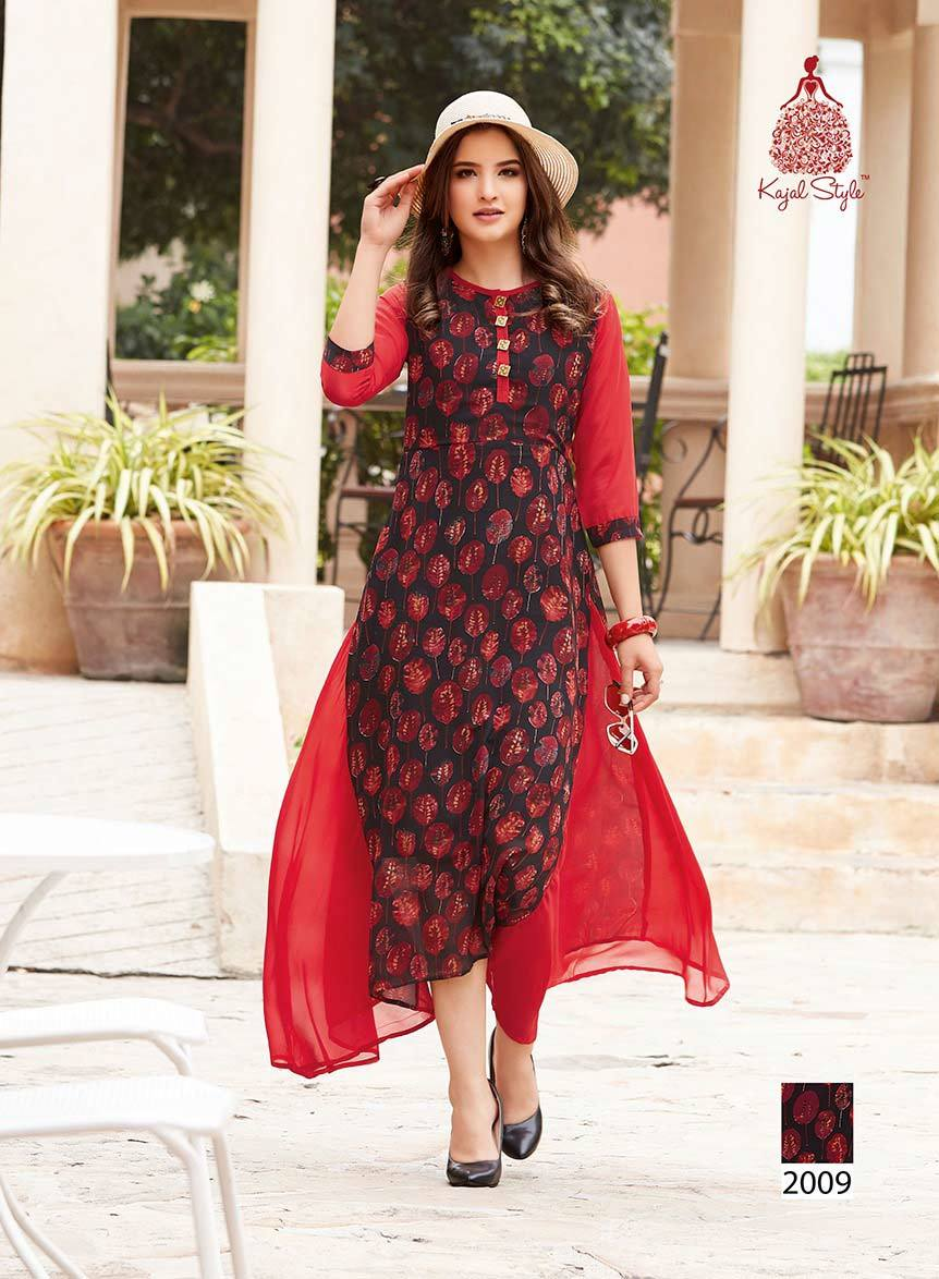 Fashion Blossom Vol-2 Kajal Style Printed Kurti