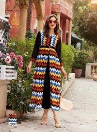 Fashion Blossom Vol-2 Kajal Style Printed Kurti