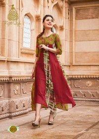 Fashion Blossom Vol-3 Kajal Style Georgette Kurti