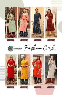 Fashion Girl Vol-1 Rayon Palazzo Kurti Sets